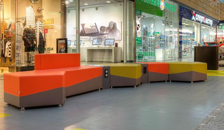 Модульные диваны для торговых центров